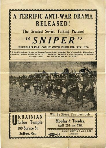 "Fig. 89 Poster for the Movie ""Sniper"""