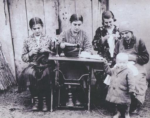 Fig. 97 Members of the Sewing Circle of the Village of Potochyshche
