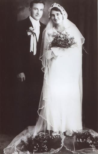 Fig. 99 Wedding Photograph of Wasyl and Anna Kuryliw, 5 July 1936